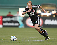 Adam Cristman #7 of D.C.United assisted on the second goal during an MLS match against the Kansas City Wizards at RFK Stadium on May 5 2010, in Washington DC. United won 2-1