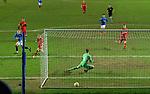 25.02.2021 Rangers v Royal Antwerp: Ryan Kent scores