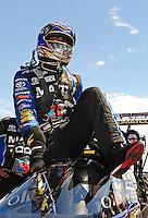 Jul. 24, 2011; Morrison, CO, USA: NHRA top fuel dragster driver Antron Brown during the Mile High Nationals at Bandimere Speedway. Mandatory Credit: Mark J. Rebilas-