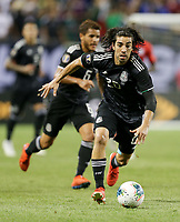 CHICAGO, ILLINOIS - JULY 07: Rodolfo Pizarro #20 during the 2019 CONCACAF Gold Cup Final match between the United States and Mexico at Soldier Field on July 07, 2019 in Chicago, Illinois.