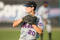 Darrell Ceciliani #20 of the Kingsport Mets at Burlington Athletic Park July 3, 2009 in Burlington, North Carolina. (Photo by Brian Westerholt / Four Seam Images)