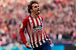 Atletico de Madrid's Antoine Griezmann celebrates goal during La Liga match between Atletico de Madrid and Real Madrid at Wanda Metropolitano Stadium in Madrid, Spain. February 09, 2019. (ALTERPHOTOS/A. Perez Meca)