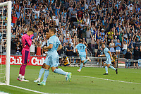 ST PAUL, MN - JULY 24: Chase Gasper #77 of Minnesota United FC goes to celebrate his goal during a game between Portland Timbers and Minnesota United FC at Allianz Field on July 24, 2021 in St Paul, Minnesota.