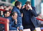 Ross County v St Johnstone…..30.04.16  Global Energy Stadium, Dingwall<br />Tommy Wright reacts to a bad decision by ref Stephen Finnie<br />Picture by Graeme Hart.<br />Copyright Perthshire Picture Agency<br />Tel: 01738 623350  Mobile: 07990 594431