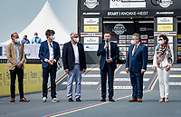 UCI President David Lappartient officially opening the 2021 UCI Road World Championships- Flanders Belgium on the TT start ramp in Knokke-Heist<br /> <br /> Men Elite Individual Time Trial <br /> from Knokke-Heist to Bruges (43.3 km)<br /> <br /> UCI Road World Championships - Flanders Belgium 2021<br /> <br /> ©kramon