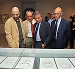 ROBERTO SAVIANO, TULLIO PERICOLI, EZIO MAURO <br /> MOSTRA TULLIO PERICOLI     ARA PACIS ROMA 2010