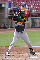 Beloit Snappers outfielder James Harris (2) at bat during a Midwest League game against the Wisconsin Timber Rattlers on May 30th, 2015 at Fox Cities Stadium in Appleton, Wisconsin. Wisconsin defeated Beloit 5-3 in the completion of a game originally started on May 29th before being suspended by rain with the score tied 3-3 in the sixth inning. (Brad Krause/Four Seam Images)