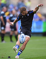 25th September 2021; The Recreation Ground, Bath, Somerset, England; Gallagher Premiership Rugby, Bath versus Newcastle Falcons; Tom de Glanville of Bath warms up