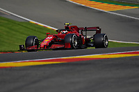 27th August 2021; Spa Francorchamps, Stavelot, Belgium: FIA F1 Grand Prix of Belgium, free practise:  CarlSainz Jr. ESP 55, Scuderia Ferrari Mission Winnow