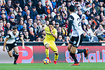 Carlos Arturo Bacca Ahumada of Villarreal CF (C) in action during the La Liga 2017-18 match between Valencia CF and Villarreal CF at Estadio de Mestalla on 23 December 2017 in Valencia, Spain. Photo by Maria Jose Segovia Carmona / Power Sport Images