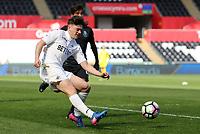 Daniel James of Swansea City launches a cross into the box during the Premier League International Cup Semi Final match between Swansea City and Porto at The Liberty Stadium, Swansea, Wales, UK. Saturday, 25 March 2017
