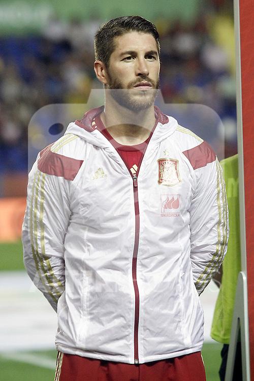 Spain's Sergio Ramos during 15th UEFA European Championship Qualifying Round match. September 8,2014.(ALTERPHOTOS/Acero)
