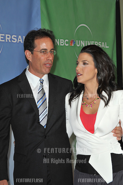 Jerry Seinfeld & wife Jessica Seinfeld at NBC Universal's Winter 2010 Press Tour cocktail party at the Langham Huntington Hotel, Pasadena..January 10, 2010  Pasadena, CA.Picture: Paul Smith / Featureflash
