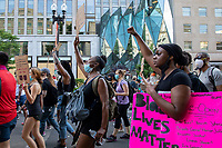 Protesters march against police brutality and racism in Washington, D.C. on Saturday, June 6, 2020.<br /> Credit: Amanda Andrade-Rhoades / CNP/AdMedia