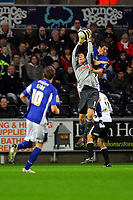 ATTENTION SPORTS PICTURE DESK<br /> Pictured: Dorus de Vries of Swansea City in action <br /> Re: Coca Cola Championship, Swansea City Football Club v Leicester City at the Liberty Stadium, Swansea, south Wales. Saturday 16 January 2010