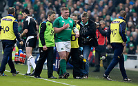Saturday 10th February 2018 | Ireland vs Italy<br /> <br /> Tadhg Furlong retires with a hamstring injury during the Six Nations Rugby Championship match between Ireland and Italy at the Aviva Stadium, Lansdowne Road,  Dublin Ireland. Photo by John Dickson / DICKSONDIGITAL