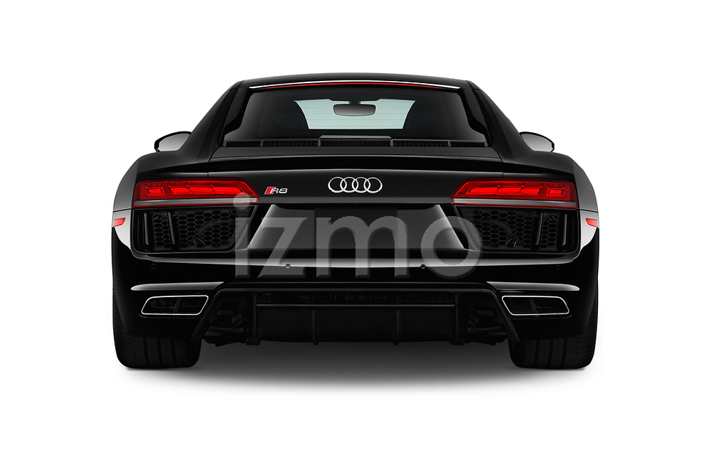 Straight rear view of 2017 Audi R8 quattro 2 Door Coupe stock images