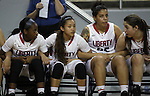 Players on the Liberty Patriots bench watch the final seconds of a Division I semi-final game at the NIAA basketball state tournament at Lawlor Events Center, in Reno, Nev., on Thursday, Feb. 27, 2014. Liberty defeated Bishop Manogue 43-33. (Cathleen Allison/Las Vegas Review-Journal)