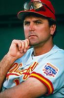 Albuquerque Dukes Manager Glenn Hoffman during a game at Cashman Field in Las Vegas, Nevada during the 1997 season.(Larry Goren/Four Seam Images)