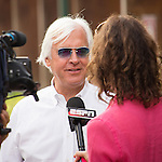 HALLANDALE BEACH, FL - JANUARY 27: Arrogate's trainer Bob Baffert gives an interview at Gulfstream Park. (Photo by Arron Haggart/Eclipse Sportswire/Getty Images