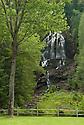 Beaver Brook leaps over it's namesake plunge, Beaver Brook Falls in Colebrook, New Hampshire.
