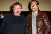 SERGI LOPEZ, OLIVIER GOURMET - AVANT-PREMIERE 'EN AMONT DU FLEUVE' A L'UGC LES HALLES, PARIS, FRANCE, LE 25/04/2017.