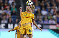 Seattle, WA - Thursday July 27, 2017: Emily Van Egmond during a 2017 Tournament of Nations match between the women's national teams of the United States (USA) and Australia (AUS) at CenturyLink Field.