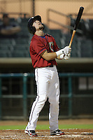 Bryce Lane of the Lancaster JetHawks during game against the Lake Elsinore Storm at Clear Channel Stadium in Lancaster,California on September 1, 2010. Photo by Larry Goren/Four Seam Images