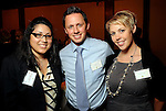 From left: Jamie Leija with Ryan and Jennifer Lovchik at the UK Energy Excellence reception at the Hilton Post Oak Hotel Monday April 30,2012. (Dave Rossman Photo)