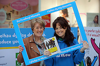 Pictured L-R: Janet Lorey with Louisa Lorey Saturday 18 Saturday<br />Re: Welsh Government Dementia Risk Prevention Roadshow at the Quadrant Shopping Centre in Swansea, Wales, UK.