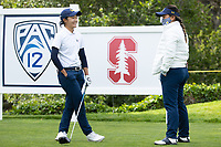 STANFORD, CA - APRIL 24: Tzu-Yi Chang, Beverly Terry at Stanford Golf Course on April 24, 2021 in Stanford, California.