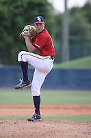 Florida Atlantic Owls starting pitcher Seth McGarry (30) in action against the Middle Tennessee State Blue Raiders at FAU Stadium on March 21, 2015 in Boca Raton, Florida.  The Middle Tennessee Blue Raiders defeated the FAU Owls 5-3.  (Stacy Jo Grant/Four Seam Images)