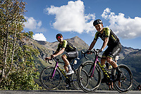 Jack Bauer (AUS/Mitchelton-Scott) and Christopher Juul Jensen (DEN/Mitchelton-Scott)<br /> <br /> 107th Tour de France 2020 (2.UWT)<br /> (the 'postponed edition' held in september)<br /> Stage 4 from Sisteron to Orcières-Merlette 160,5km<br /> ©kramon
