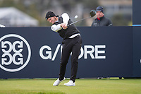 3rd October 2021; The Old Course, St Andrews Links, Fife, Scotland; European Tour, Alfred Dunhill Links Championship, Fourth round; Danny Willett of England tees off on the fourth hole during the final round of the Alfred Dunhill Links Championship on the Old Course, St Andrews