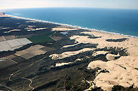 aerial photograph of dunes, Arroyo Grande, San Luis Obispo County, California