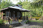Picard Beach Cottages aka Ayohayo Eco Cottages on beachfront Prince Rupert Bay, Portsmouth, Dominica. Place where crew of Pirates of the Caribbean stayed during filming.
