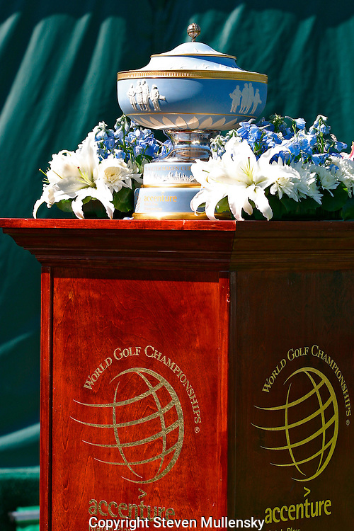 The Water Hagen Cup is presented to the winner of the World Golf Championships - Accenture Match Play.Championship.