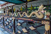 Yogyakarta, Java, Indonesia.  Serpent on Wall Surrounding Dining Area for Special Occasions, Sultan's Palace.