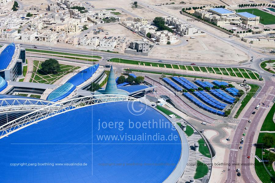 QATAR, Doha, Aspire dome, sportspark at Khalifa International Stadium for FIFA world cup 2022, built by contractor midmac and sixt contract / KATAR, Doha, Aspire Dome, Sportpark am Khalifa International Stadium fuer die  FIFA Fussballweltmeisterschaft 2022