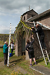 Rushbearing church service Macclesfield Forest, at St Stephens Church, Forest Chapel, Cheshire, UK.  2017