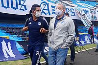 BOGOTÁ – COLOMBIA, 20-06-2021: Millonarios F.C. por la final vuelta como parte de la Liga BetPlay DIMAYOR I 2021 jugado en el estadio Nemesio Camacho El Campin de la ciudad de Bogotá. / Millonarios F.C. in the second leg final match as part of BetPlay DIMAYOR League I 2021 played at Nemesio Camacho El Campin Stadium in Bogota city. Photos: VizzorImage / Daniel Garzon / Cont.