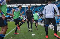 San Jose, CA - Saturday, April 06, 2019: Major League Soccer (MLS) match between the San Jose Earthquakes and the Portland Timbers at Avaya Stadium.