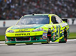Paul Menard, driver of the (27) Quaker State/Menards Chevrolet, in action during the Samsung Mobile 500 Sprint Cup race at Texas Motor Speedway in Fort Worth,Texas.
