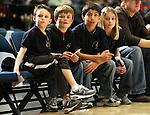 The Roy Gomm Elementary School Choir members watch Friday night's Bighorns minor league basketball game, Feb. 11, 2011, against the Fort Wayne Mad Ants at the Reno Events Center in Reno, Nev. .Photo by Cathleen Allison