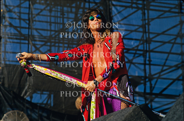 Various live photographs of the rock band, Aerosmith