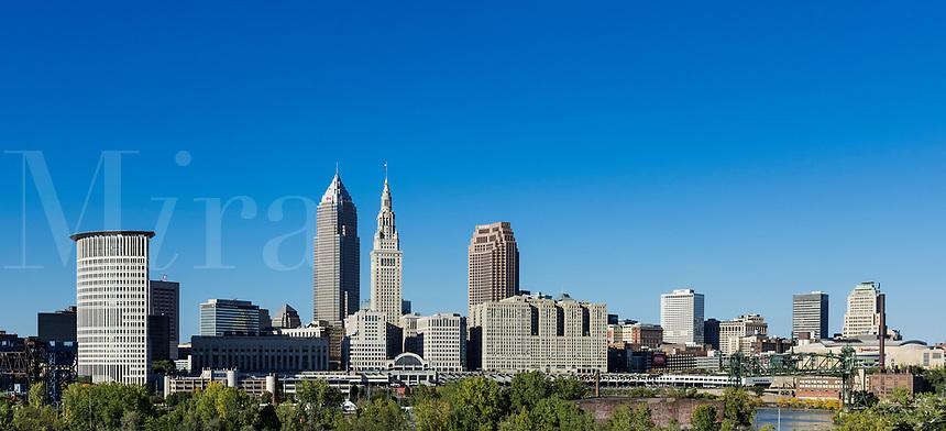 City skyline, Cleveland, Ohio, USA.