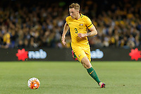 June 7, 2016: ALEX GERSBACH (3) of Australia runs with the ball during an international friendly match between the Australian Socceroos and Greece at Etihad Stadium, Melbourne. Photo Sydney Low