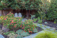 Small space backyard garden sheltered seating areaLundstrom Garden, design by Susan Morrison