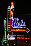 Neon sign at Mel's Drive-In Restaurant, Hollywood, CA