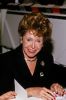 FILE PHOTO - Mary Higgins-Clark<br />  sign autographs at the Montreal book fair, Nov. 1996.<br /> <br /> <br /> Photo : Pierre Roussel - Agence Quebec Presse